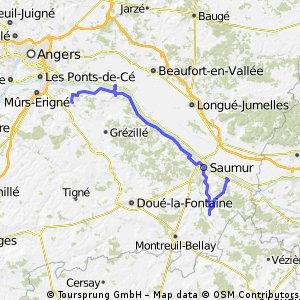 Loire Radweg: Tag 7 Bourg-Neuf - La Gaignardiere