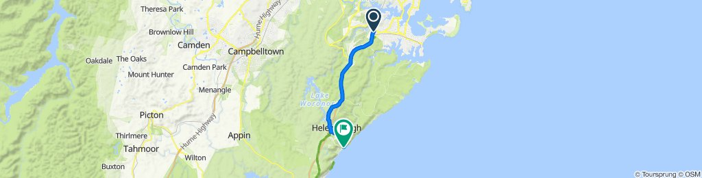Route from 768 Old Princes Highway, Sutherland