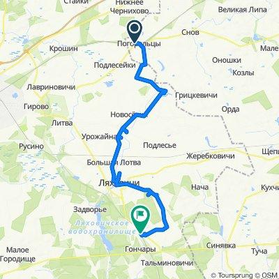 [Ляхавічы] Пагарэльцы - Сваяцічы - Флер'янава - Ляхавічы - Грушаўка
