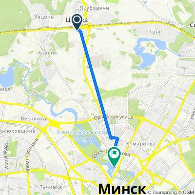 От Долгиновский тракт 177, Минск до улица Старовиленская 8, Минск