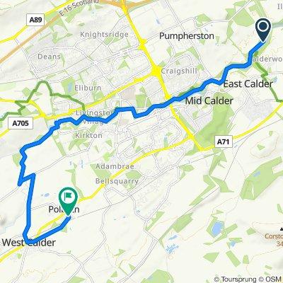 Route to 1 Chapelton Place, West Calder