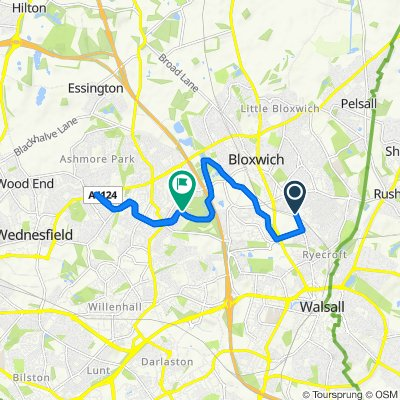 Steady ride in Walsall