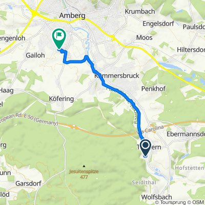 Moderate Route in Amberg