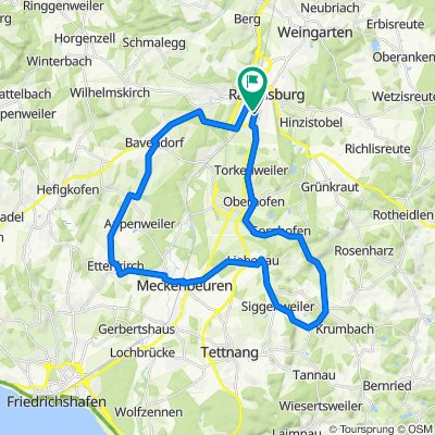 Ravensburg - Obereisenbach - Ettenkirchen - Runde