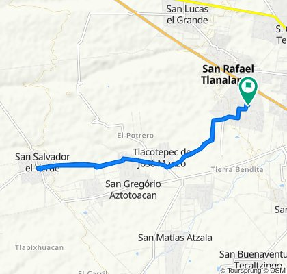 Ruta constante en San Martín Texmelucan