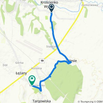Powolna trasa w Łężany