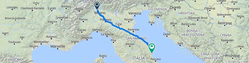 Da Via Giuseppe Garibaldi 31, Figliaro a SS16 271, San Benedetto del Tronto