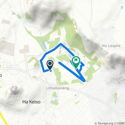 Moderate route in Maseru