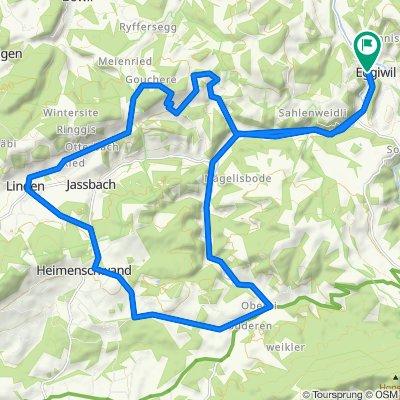 Sportliche Route in Eggiwil