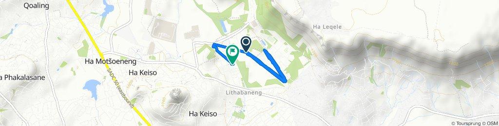 Slow ride in Maseru