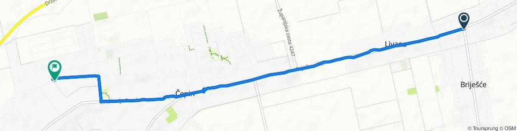 Ulica Svetog Leopolda Bogdana Mandića 227, Osijek to Ulica Antuna Gustava Matoša 63, Čepin