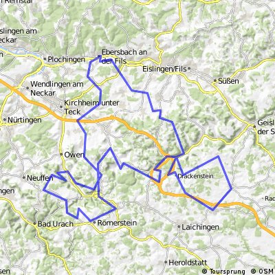 RTF Filstal-Alb-Rundfahrt . 161 km . 2460 Hm