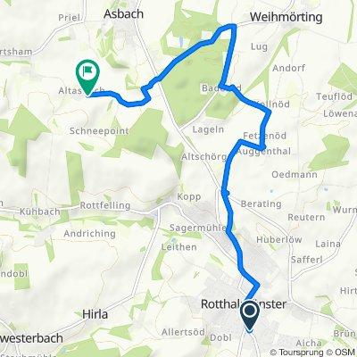 Gemütliche Route in Rotthalmünster