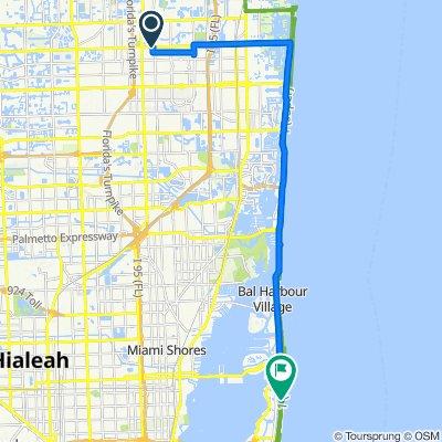 Sporty route in Miami Beach