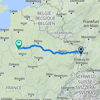 Straßburg - Paris GPS-Track