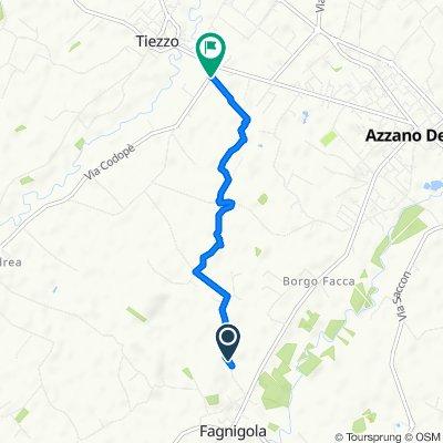 Da Via Bosco Mantova 37, Fagnigola a Via Pedrina 5, Azzano Decimo
