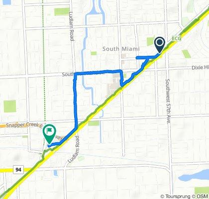5760 Progress Rd, South Miami to 8400 S Dixie Hwy, Miami