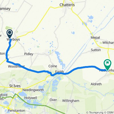Haycroft Close, Huntingdon to The Green, Ely