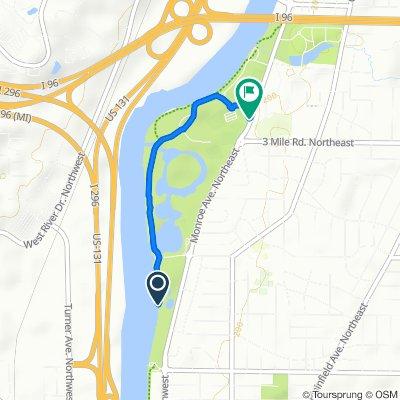 Riverside Park Dr NW, Grand Rapids to 3083–3151 Monroe Ave NE, Grand Rapids