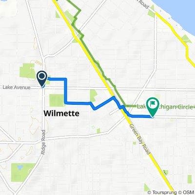 Restful route in Wilmette