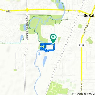 400–448 W Taylor St, DeKalb to 405 W Taylor St, DeKalb