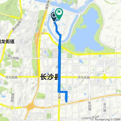 Route from G4 Jinggang'ao Expressway, Changsha