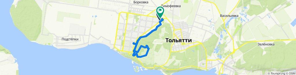 От улица Льва Яшина 7А, Тольятти до Южное шоссе 23А, Тольятти
