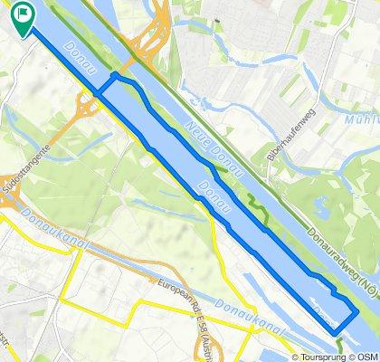 Rundfahrt Donauinsel-Freudenau-Friedenspagode