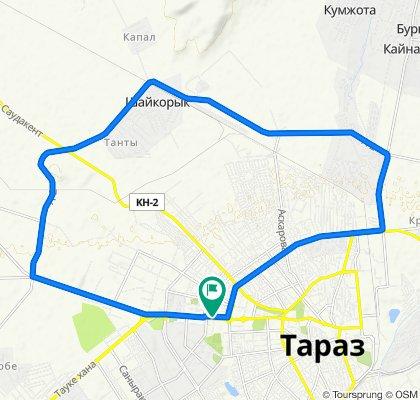 маршрут с улица Толе Би д.74, Тараз