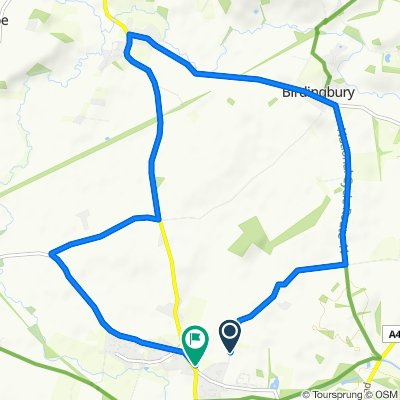 Collingham Lane, Southam to Orchard View, Southam Road, Southam