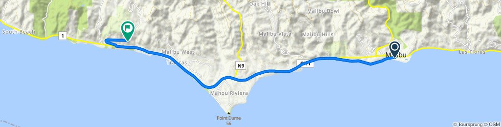 Relaxed route in Malibu