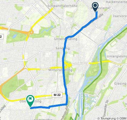 Sportliche Route in München