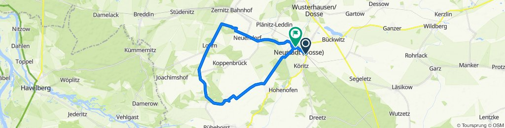 Gemütliche Route in Neustadt (Dosse)