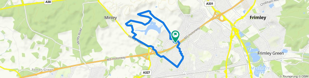 Slow ride in Farnborough