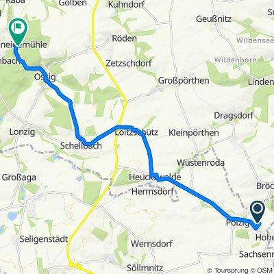 Zum Eichberg 11, Pölzig nach Schneidemühlenweg 2A, Breitenbach