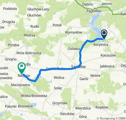 Umiarkowana trasa w Raczyce