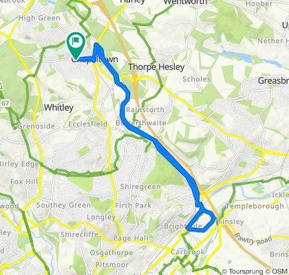 6 Hunshelf Road, Sheffield to 6 Hunshelf Road, Sheffield