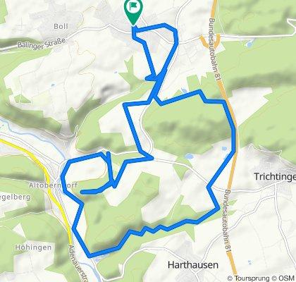 Bochingen - Baubergweg - Trichtingen - Altoberndorf - Wendelinkapelle
