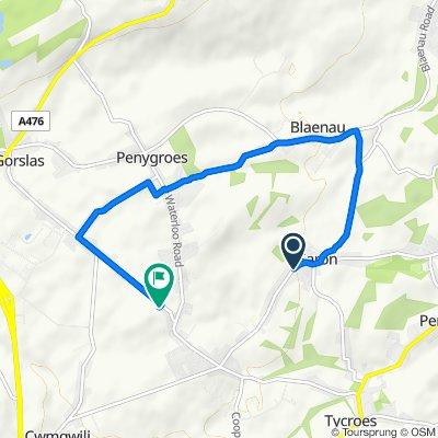 159 Saron Road, Ammanford to Ffynnon Wen, Black Lion Road, Ammanford