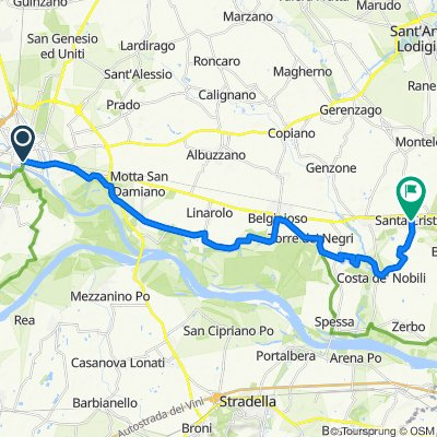 Da Corso Strada Nuova 32, Pavia a Via Vittorio Veneto 121, Santa Cristina e Bissone