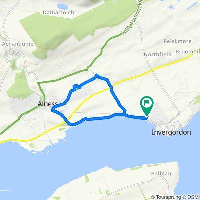 Moderate route in Invergordon