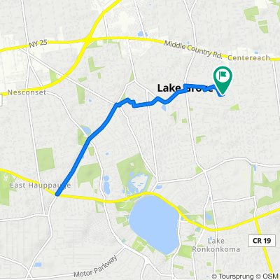 6.2 miles route