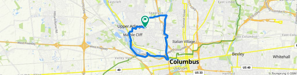 Sporty route in Columbus