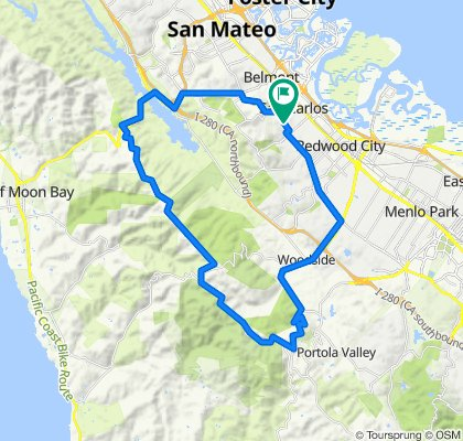 Supersonic route in San Carlos