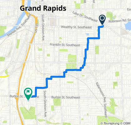 Restful route in Grand Rapids