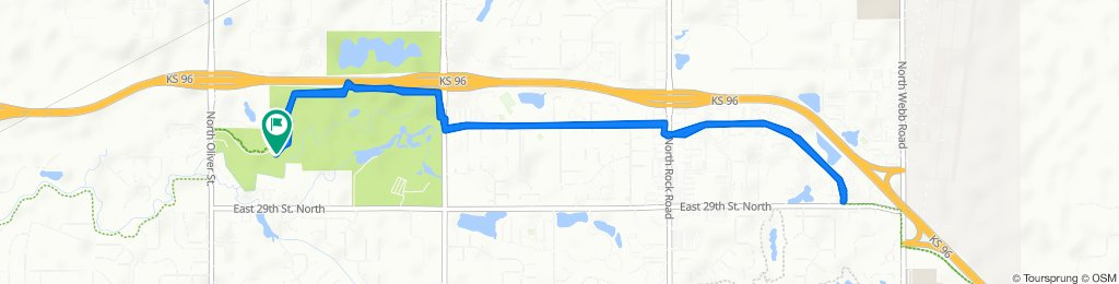 3228 N Oliver St, Wichita to 3228 N Oliver St, Wichita