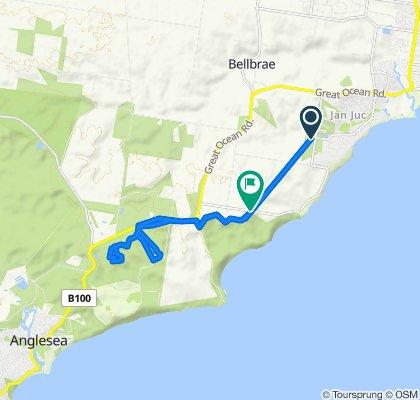 Moderate route in Bells Beach