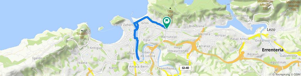Ruta moderada en Donostia/San Sebastián
