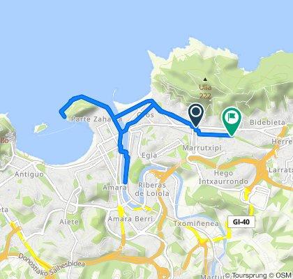 Paseo rápido en Donostia/San Sebastián