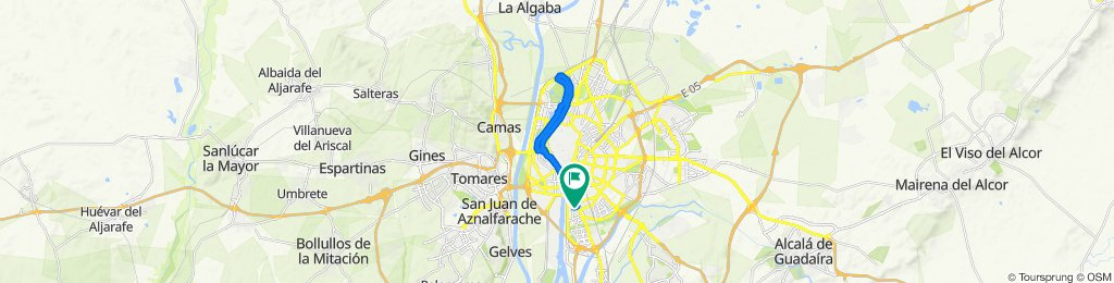 Ruta constante en Sevilla